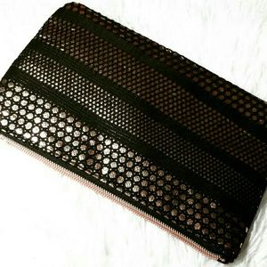 Sonia Kashuk Double Sided Zip Clutch Bag